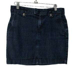 Banana Republic Dark Jean Mini Skirt